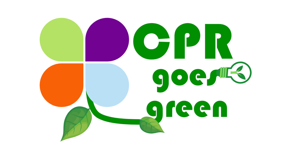 CPR goes green logo